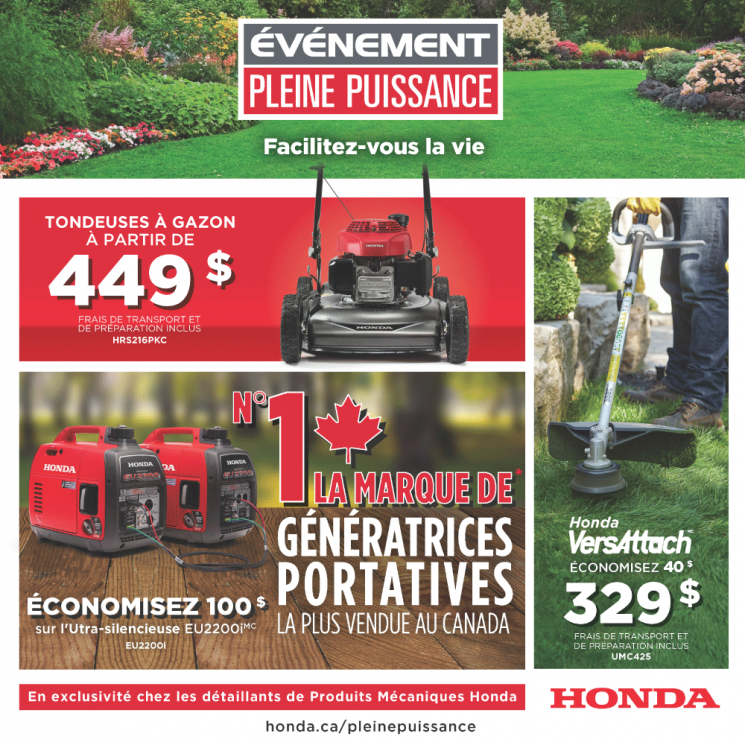 Événement Pleine Puissance Honda – Facilitez-vous la vie!
